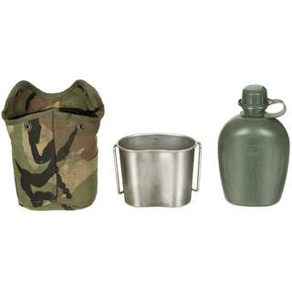 NL Canteen - fabric cover - Molle - NL camo - drinking cup - used